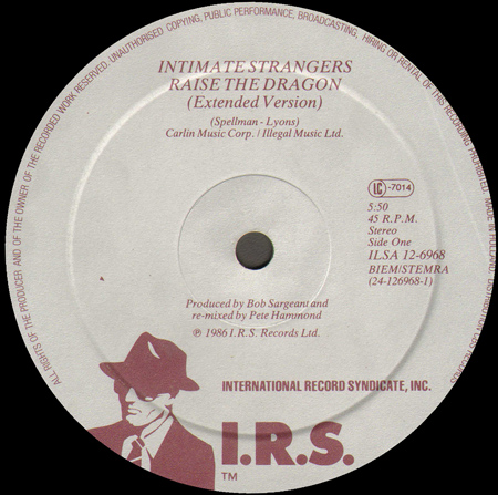 INTIMATE STRANGERS - Raise The Dragon