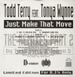 TODD TERRY - Just Make That Move Part Two, Feat. Tonya Wynne