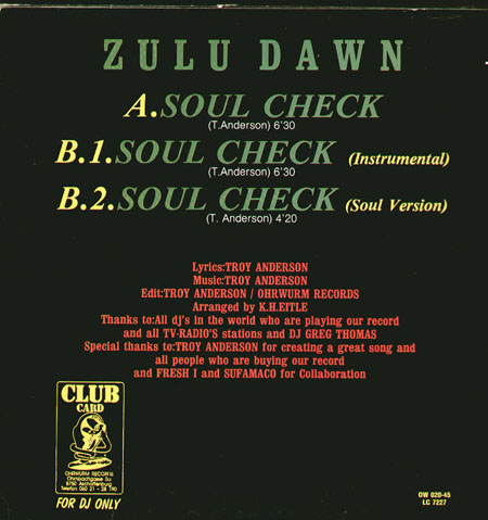 ZULU DAWN - Soul Check