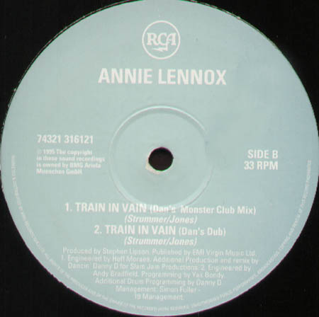 ANNIE LENNOX - Train In Vain (Only Side A/B)