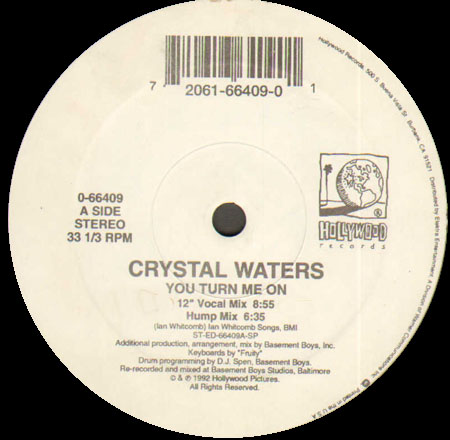 CRYSTAL WATERS - You Turn Me On (Basement Boys Rmx)