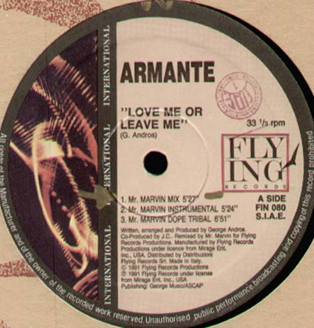 ARMANTE - Love Me Or Leave Me (Mr Marvin Rmx)