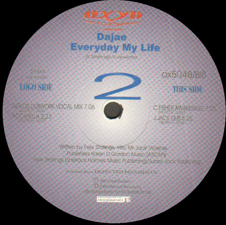 DAJAE - Everyday My Life (Junior Jack,Cevin Fisher, Nerio's Dubwork Rmxs)