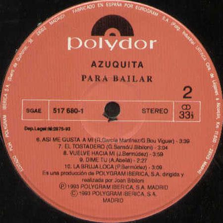 AZUQUITA - Para Bailar - 33T