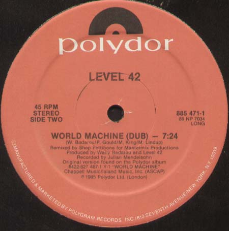 LEVEL 42 - World Machine (Shep Pettibone Rmx)
