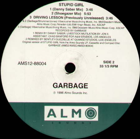 GARBAGE - Stupid Girl (Todd Terry, Rabbit In The Moon Rmxs)