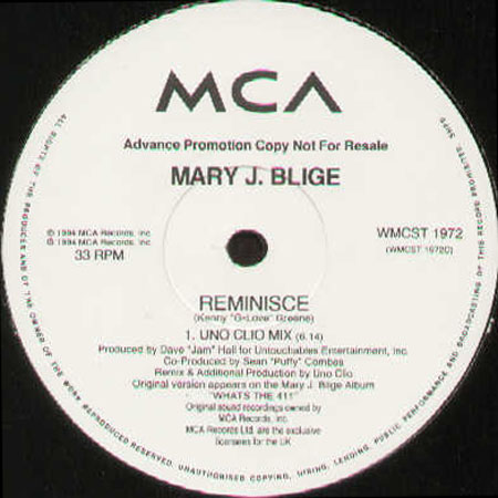 MARY J. BLIGE - My Love / Reminisce (Only Side C/D)