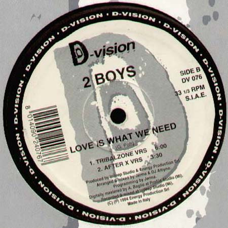 2 BOYS - Love Is What I Need