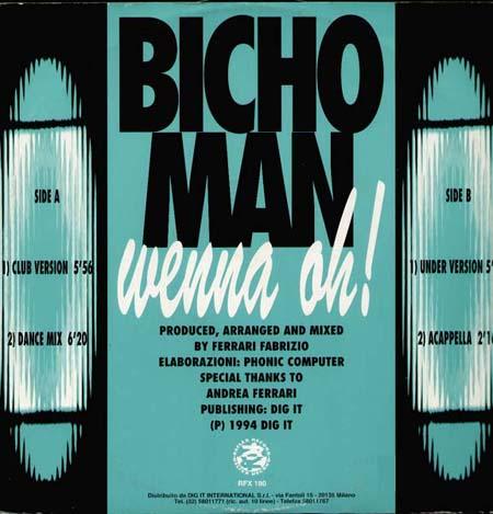 Bicho Man Wenna Oh Reflex Vinyl 12 Inch Rfx 180