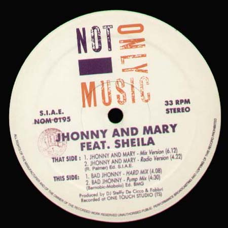 JHONNY AND MARY, FEAT. SHEILA - Jhonny and Mary / Bad Jhonny