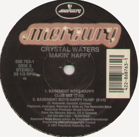 CRYSTAL WATERS - Makin' Happy (Steve Silk Hurley, Basement Boys Rmxs)