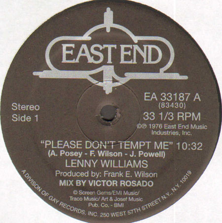 LENNY WILLIAMS - Please Don't Tempt Me