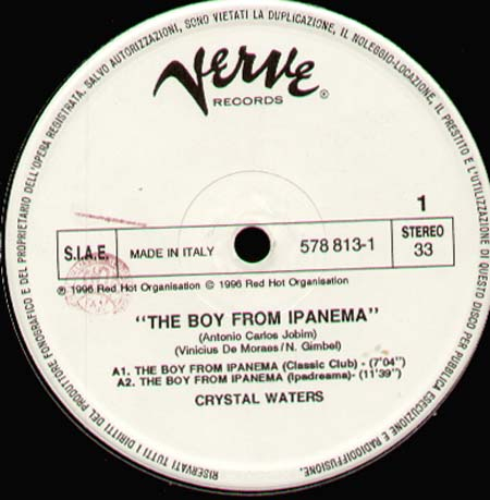 CRYSTAL WATERS - The Boy From Ipanema (Frankie Knuckles, Todd Terry Rmxs)