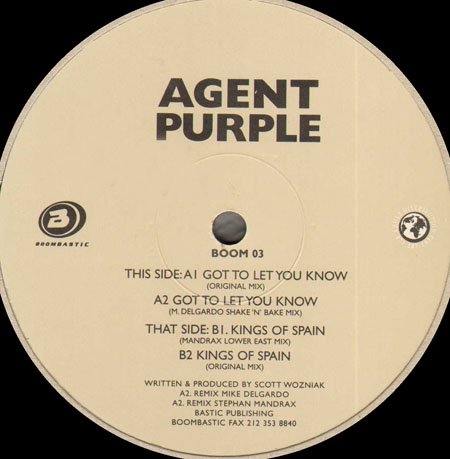 AGENT PURPLE - Got To Let You Know / Kings Of Spain