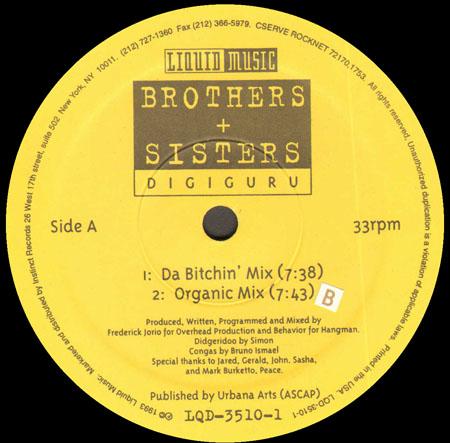 BROTHERS+SISTERS Digiguru (Mixes by Jorio) Liquid Music