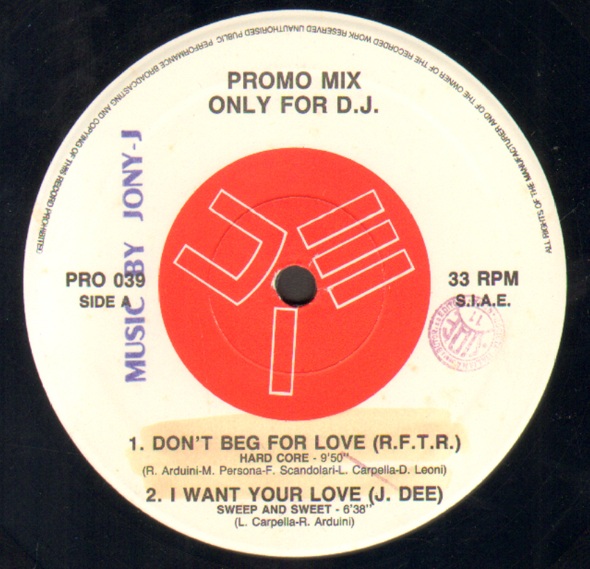 VARIOUS (R.F.T.R. / J.DEE / DAVIDA / AMY LOU CHARLES) - Promo Mix 39 (Don't Beg For Love / I Want Your Love / I Know More / Weekend)