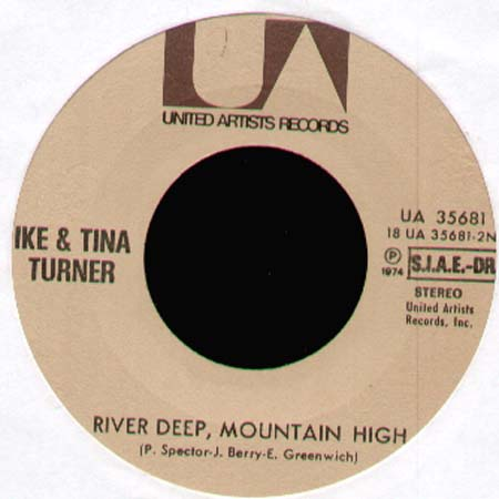 IKE & TINA TURNER - Sweet Rhode Island Red / River Deep, Mountain High