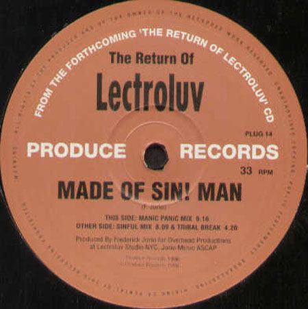 LECTROLUV - Made Of Sin! Man