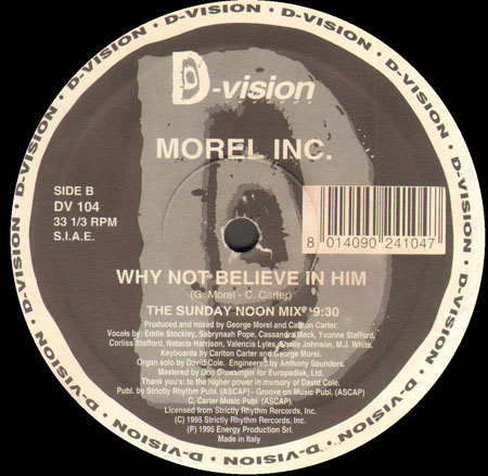 MOREL INC - Why Not Believe In Him