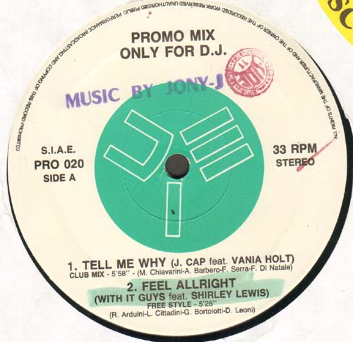 VARIOUS (J.CAP/WITH IT GUYS/NEON LIGHT/LISA B.) - Promo Mix 20 (Tell Me Why / Feel Allright / Keep On Dancing / Love Is) - 12 inch x 1