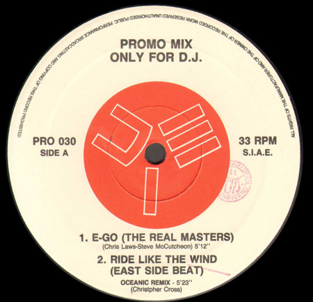 VARIOUS (REAL MASTER / EAST SIDE BEAT  / R.A.F. / DJ MOLELLA) - Promo Mix 30 (E-Go / Ride Like The Wind / We've Got To Live Together / Revolution)