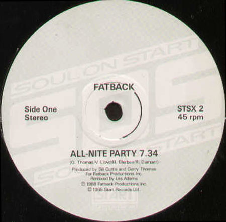 FATBACK - All-Nite Party