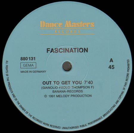 FASCINATION / FIREFLY - Out To Get You / Love Is Coming