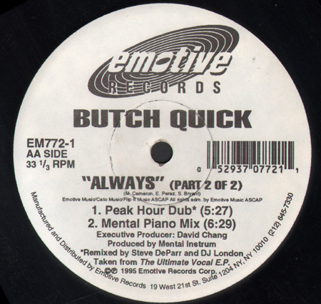 BUTCH QUICK - Always