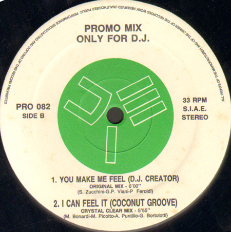 VARIOUS (MIG 27 / CLOCK / DJ CREATOR / COCONUT GRO - Promo Mix 82 (Love Me & Touch Me / Holding On / You Make Me Feel / I Can Feel It) - 12 inch x 1