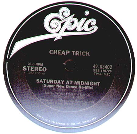 CHEAP TRICK - Saturday At Midnight